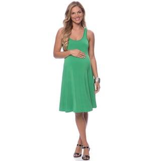 24/7 Comfort Apparel Women's Maternity Sleeveless Tank Knee-Length Dress