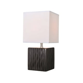 Lite Source Kube Table Lamp, Black