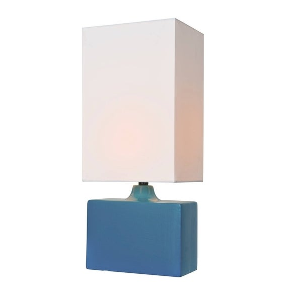 Lite Source Kara Table Lamp, Aqua