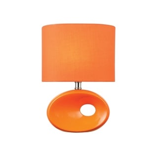 Lite Source Hennessy II Table Lamp, Orange