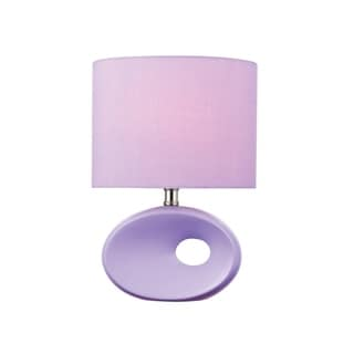 Lite Source Hennessy II Table Lamp, Lavendar