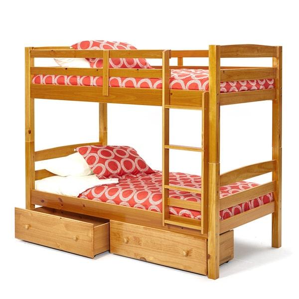 Shop Woodcrest Pine Ridge Twin Twin Bunk Bed Free