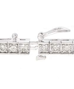 14k Gold 5ct Diamond Tennis Bracelet (I-J, SI2 ) - Thumbnail 1