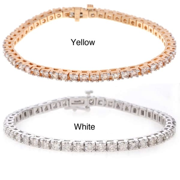 14k Gold 5ct Diamond Traditional Tennis Bracelet (I-J, SI2)