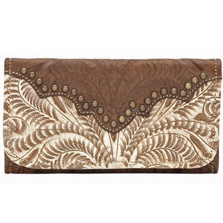 American West Smooth Brass Annies Secret Tri-Fold Wallet