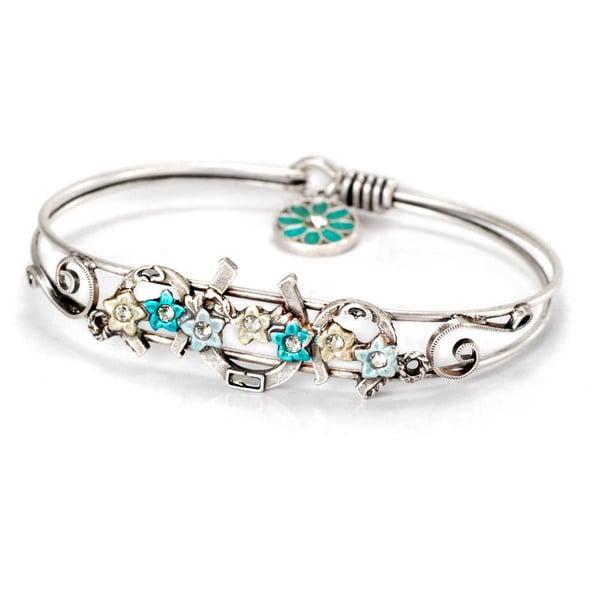 Sweet Romance Lucky Horseshoe Vintage Bangle Bracelet