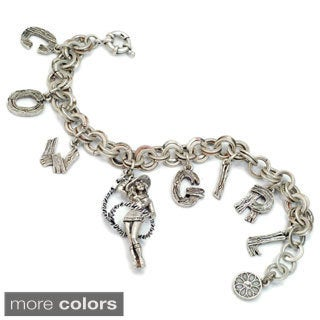 Sweet Romance Country Cowgirl Lasso Charm Bracelet
