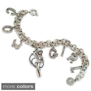 Sweet Romance Country Cowgirl Lasso Charm Bracelet|https://ak1.ostkcdn.com/images/products/10196389/P17320931.jpg?impolicy=medium