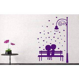 Romantic couple Love is Vinyl Sticker Wall Art