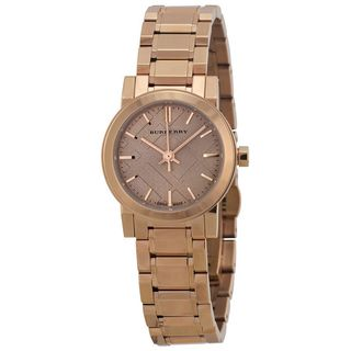 Burberry Women's BU9228 'The City' Rose tone Stainless steel Watch