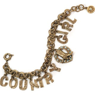 Sweet Romance Country Girt Boot Charm Bracelet