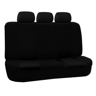 FH Group Black Flat Cloth Auto Bench Seat Covers