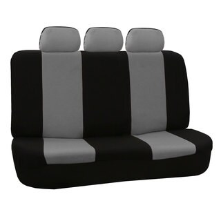 FH Group Grey and Black Flat Cloth Auto Bench Seat Covers