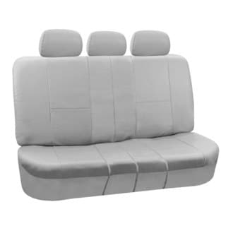 FH Group Grey PU Leather SPLIT Bench Auto Seat Covers