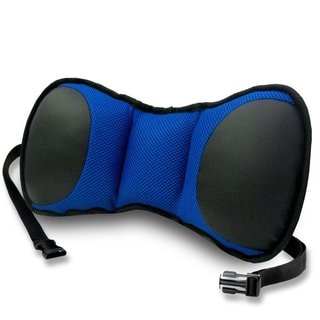 FH Group Blue and Black Portable Lumbar Seat Cushion with Strap