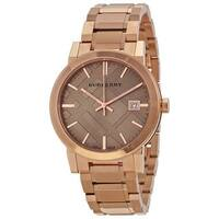 Burberry Women's BU9034 'The City' Rose tone Stainless steel Watch