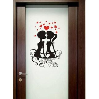 Romantic couple Love Vinyl Sticker Wall Art