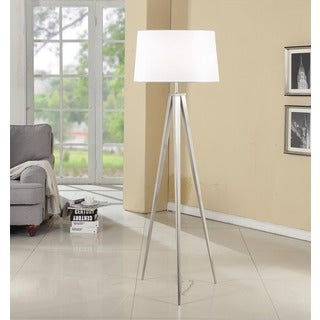 Strick & Bolton Miles 63-inch Brushed Nickel Tripod Floor Lamp