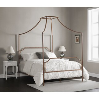The Curated Nomad Flatiron Brushed Dark Copper Full-size Canopy Bed