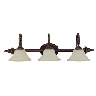 Capital Lighting Chandler Collection 3-light Burnished Bronze Bath/Vanity Light