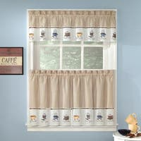 Favorite Coffee Drinks Embroidered Window Treatments Valance and Tiers