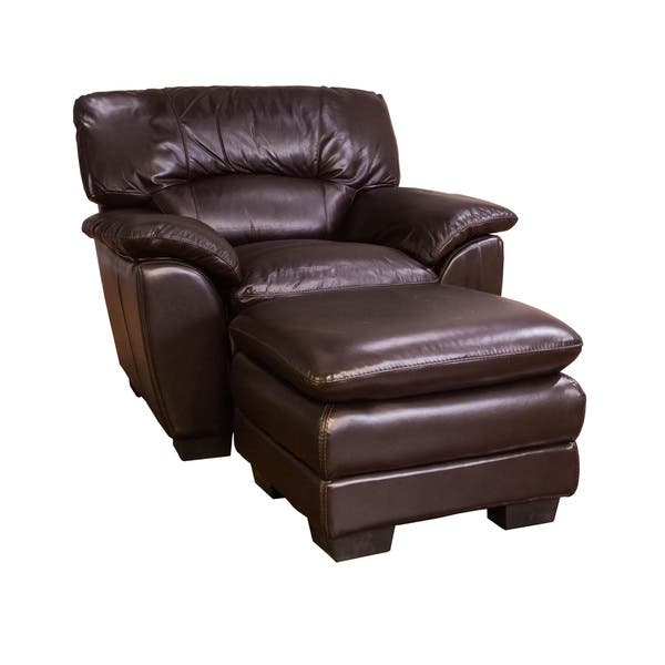 Cool Shop Oversized Chocolate Leather Chair And Ottoman Set Inzonedesignstudio Interior Chair Design Inzonedesignstudiocom