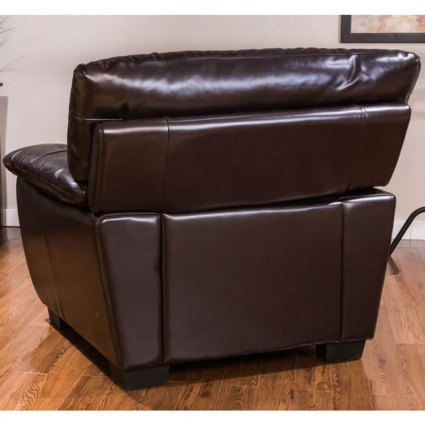 Amazing Shop Oversized Chocolate Leather Chair And Ottoman Set Inzonedesignstudio Interior Chair Design Inzonedesignstudiocom