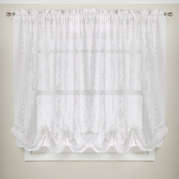 Shop White Lace Luxurious Old World-style Kitchen Curtains ...