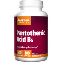 Jarrow Formulas Pantothenic Acid B5 500mg (100 Capsules)