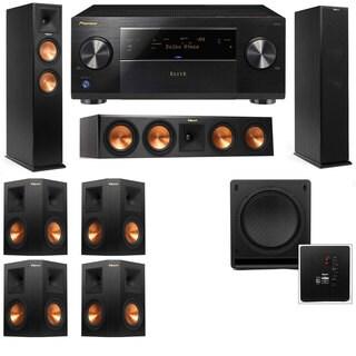 Klipsch RP-250F Tower Speakers-RP-440C-SW-112 - 7.1-Pioneer Elite SC-85