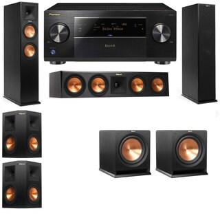 Klipsch RP-250F Tower Speakers-RP-440C-R112SW-5.2-Pioneer Elite SC-85