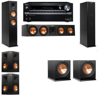 Klipsch RP-250F Tower Speakers-R112SW-5.2-Onkyo TX-NR838