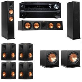 Klipsch RP-250F Tower Speakers-R112SW-7.2-Onkyo TX-NR838