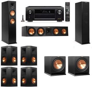 Klipsch RP-250F Tower Speakers-R112SW-7.2-Denon AVR-X4100W