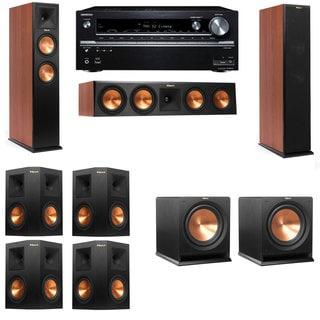 Klipsch RP-250F Tower Speakers CH-R112SW-7.2-Onkyo TX-NR838