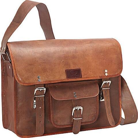 Sharo Leather 15-inch Laptop Messenger Bag