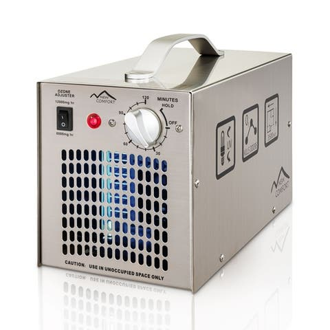 Stainless Steel Commercial Ozone Generator UV Air Purifier 6,000 to 12,000 mg/hr Industrial Stregnth