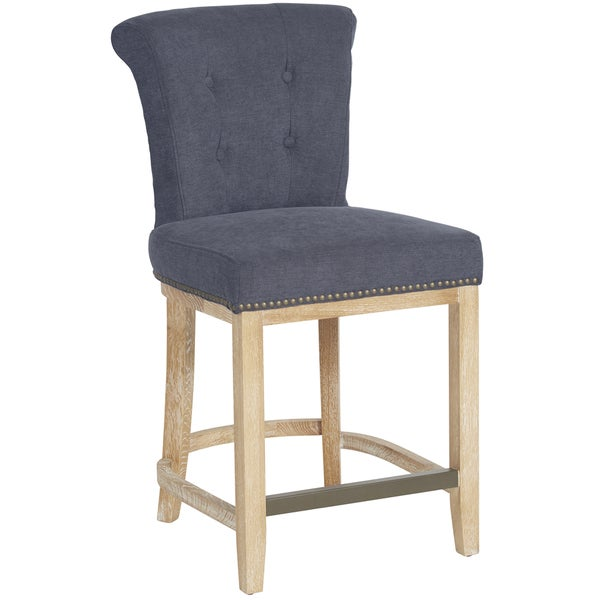 Shop Better Living Orion 23 Inch Blue Chenille Bar Stool Free