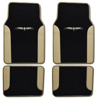 BDK Tattoo Design Beige Car Floor Mat