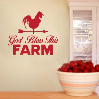 God Bless This Farm 36-inch x 32-inch Vinyl Wall Decal
