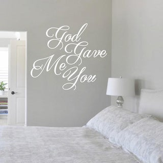 God Gave Me You 36-inch x 32-inch Vinyl Wall Decal (More options available)