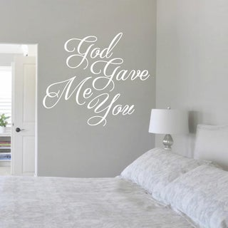 God Gave Me You 24-inch x 21-inch Vinyl Wall Decal