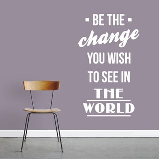 Be The Change 22-inch x 36-inch Vinyl Wall Decal