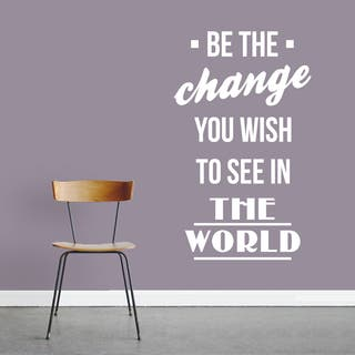 Be The Change 15-inch x 24-inch Vinyl Wall Decal