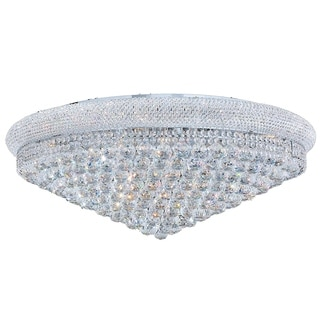 Empire Collection 20-light Chrome Finish and Clear Crystal Flush Mount Ceiling Light