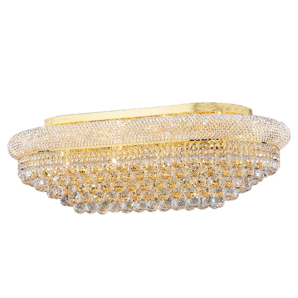 French Empire 18 Light Gold Finish And Clear Crystal 36 Rectangle