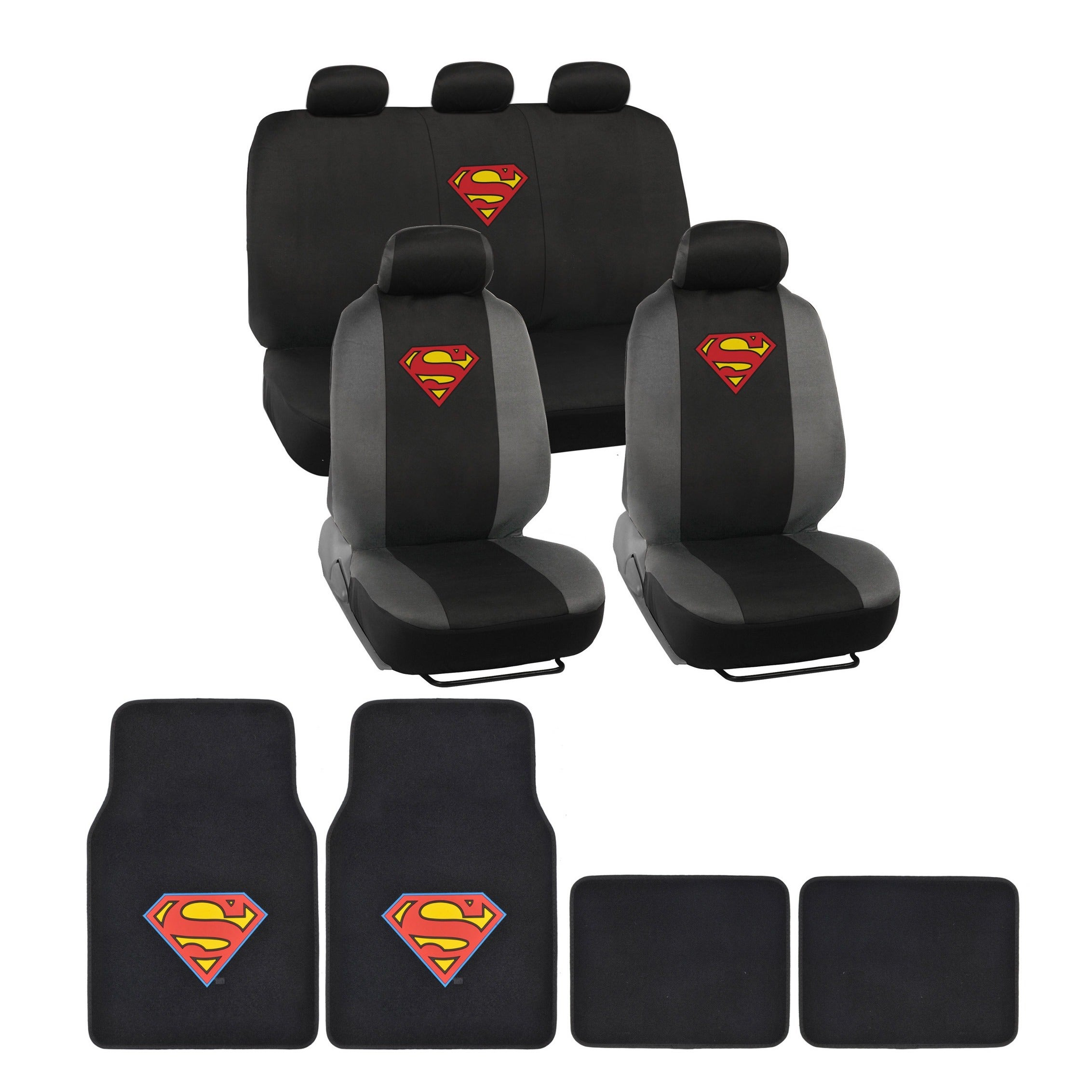 Warner Brothers Universal Fit Superman Seat Cover/ Access...