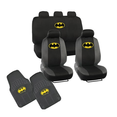 Warner Brothers 1989 Batman Logo Seat Covers and Floor Mats