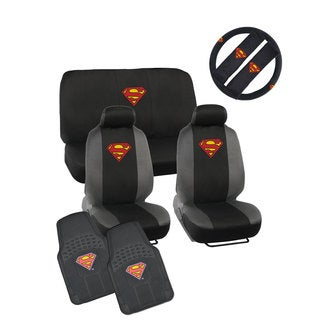 Warner Brothers Universal Fit Superman Seat Cover/ Accessories Set