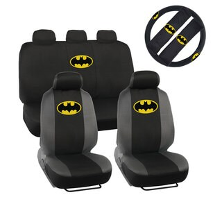 Warner Brothers Universal Fit Batman Seat Covers Accessory Set